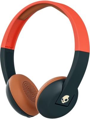 Skullcandy Uproar S5URHW-510Wireless Stereo Dynamic Headphone Wireless bluetooth Headphones(Orange Black, On the Ear)
