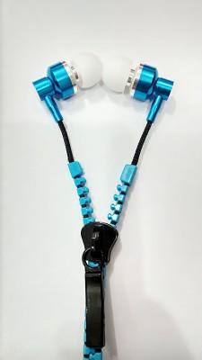 Smart Dealz Ubon Zip Metal ZP-31(Blue) Stylish Zipper Earphone Stereo Dynamic wired Headphone Headphones