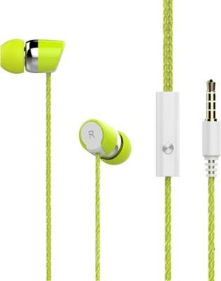 iCopertina 3.5 MM Premium Earphones Green Stereo Dynamic Wired bluetooth Headphones