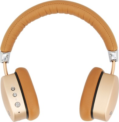 Barwa BBH401 Stereo Dynamic Wired & Wireless bluetooth Headphones(Golden:Brown, On the Ear)