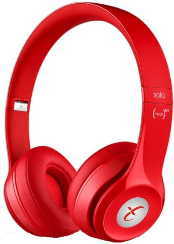 Head Kik Bluetooth S460 With FM Radio Stereo Dynamic Wireless bluetooth Headphones(Red, On the Ear)