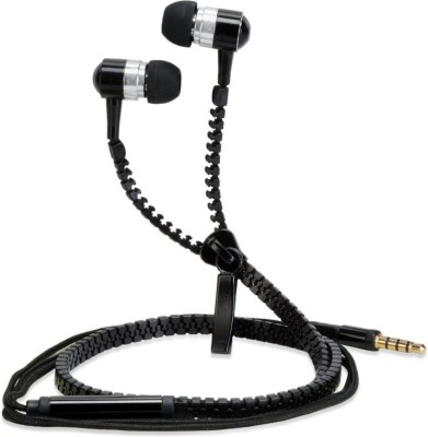 Generix Stylish Metal Zipper Hi-Bass Stereo Dynamic Wired Headphones