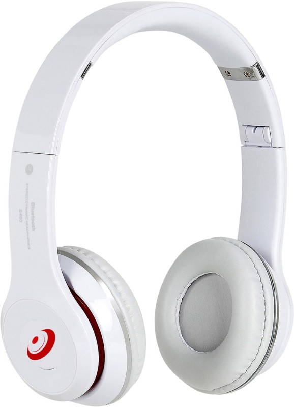 Head Kik Exclusive Quality Bluetooth Solo S460 With Memory Card Slot Stereo Dynamic Wireless bluetooth Headphones(White, On the Ear)