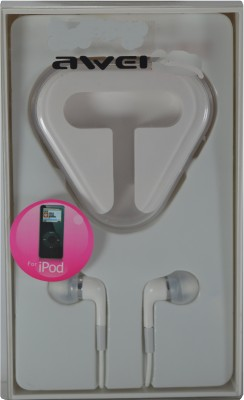 AWEI Earphone For Apple Ipod Stereo Dynamic Wired Headphones