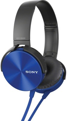 Sony MDR-XB450-Blue Stereo Dynamic Headphones(Blue, On the Ear)