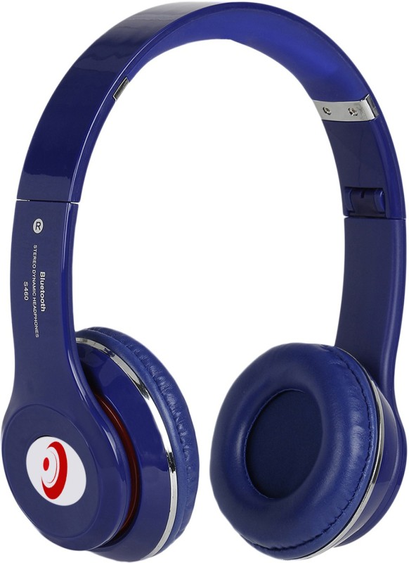 Head Kik Exclusive Quality Bluetooth Solo S460 With Memory Card Slot Stereo Dynamic Wireless bluetooth Headphones(Blue, Over the Ear)