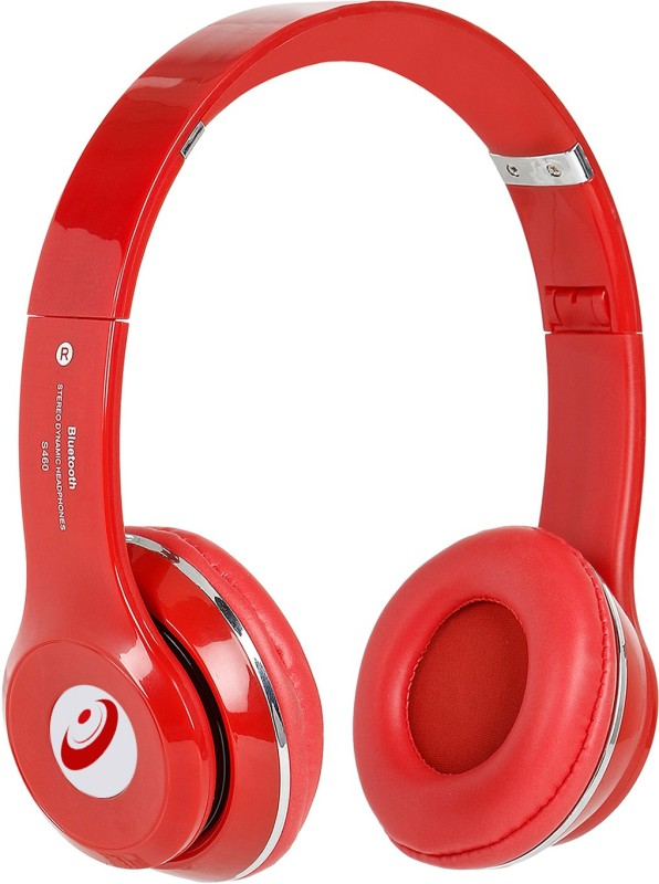 Head Kik Exclusive Quality Bluetooth Solo S460 With Memory Card Slot Stereo Dynamic Wireless bluetooth Headphones(Red, On the Ear)