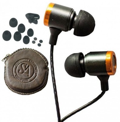 Signature Acoustics O16-Leather Stereo Live natural sound signature Wired Headphones