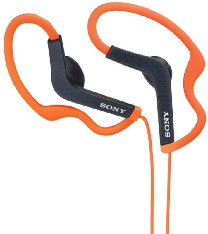 Sony MDR-AS200_Orange Stereo Wired Headphones(Orange, Over the Ear)