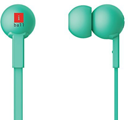 iBall Colorstick Stereo Wired bluetooth Headphones(Green, In the Ear)