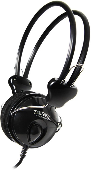 Zebronics Pleasant Wired Headphones(Black, On the Ear)