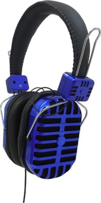 Digital Essentials Headphones & Earphones Blue/Black Stereo Wired Headphones(Blue, Black, Over the Ear)