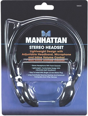 MANHATTAN Model 164429 Stereo Headphones