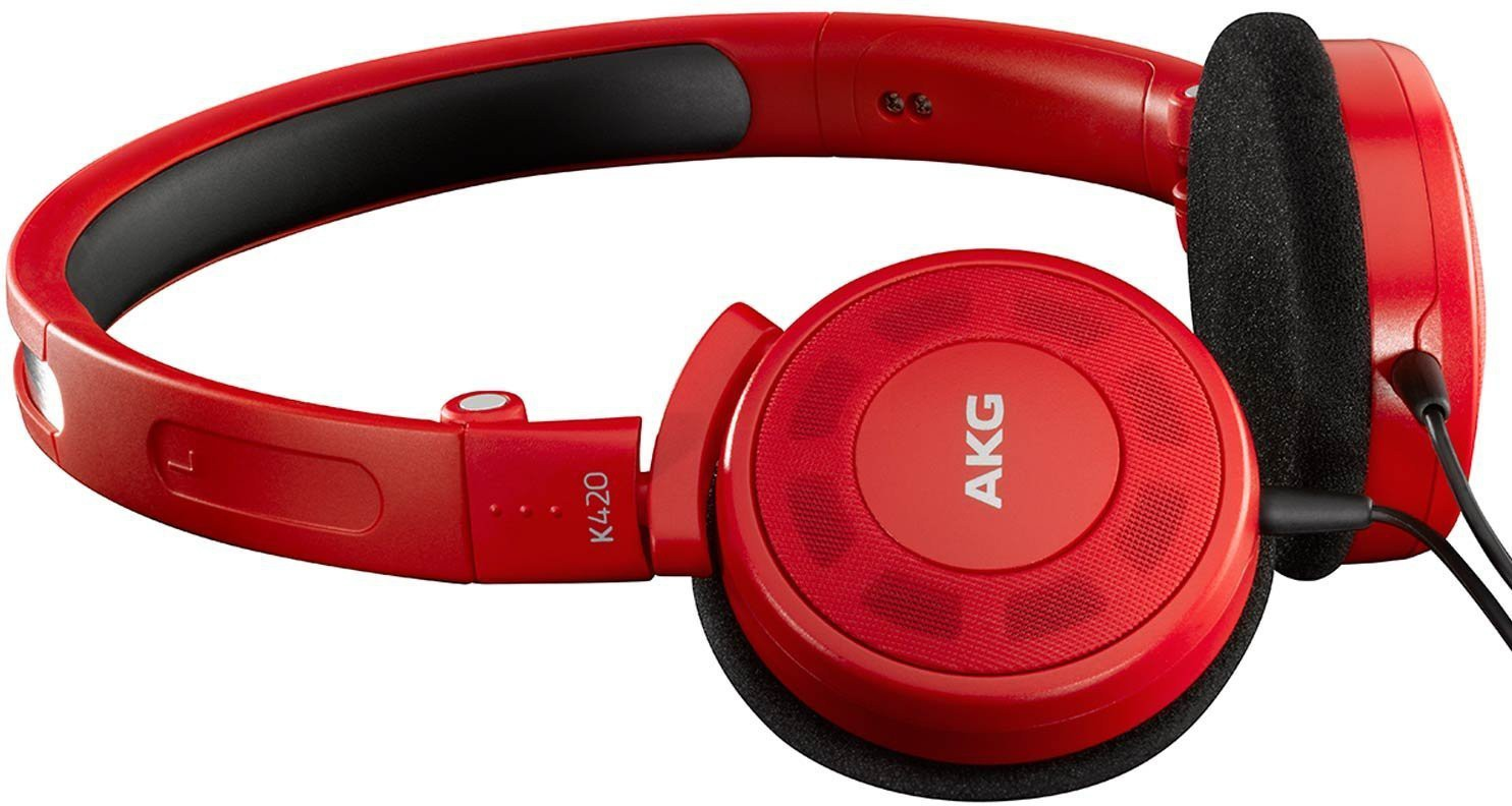 Harman AKG K420 Headphones(Red, Over the Ear)