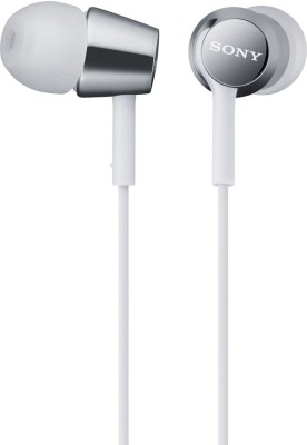 Sony MDR-EX150_White Stereo Wired Headphones(White, In the Ear)