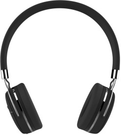 Portronics POR-645 Muffs Pro with AUX Port Stereo Wireless bluetooth Headphones(Black, Over the Ear)