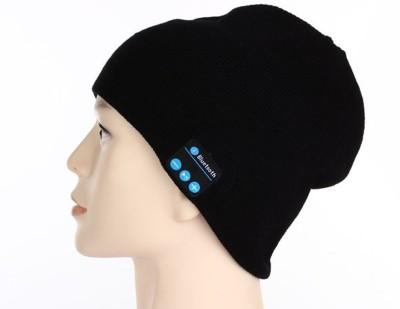 Meme Design Outdoor Bluetooth Beanie Hat Wireless Bluetooth Headphone Headset Earphone Stereo Speakers & Mic Black  Stereo Wired bluetooth Headphones