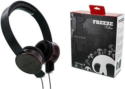 I-Kool Freeze Series Retro Funky Designer Headphone Super Cool Finish And Packs Up Great For Traveling By Plane Bus Or Headphones