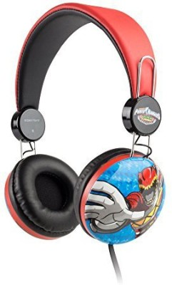 Sakar Over The Ear Kids Safe Headphones (Power Rangers) Headphones(Multicolor)