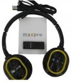 Maxpro V810 Headphones (Black, Yellow, O...