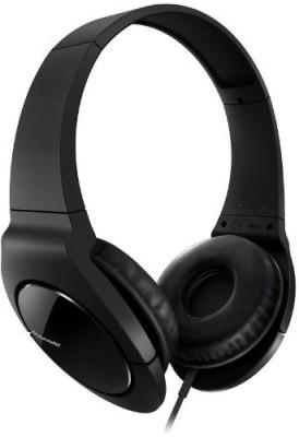 Pioneer Se-Mj721-K Fully Enclosed Dynamic Headphones With Powerful Bass Headphones(Black)