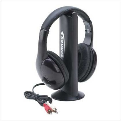 Generic Mh2001 5-In-1 Wireless Headphones W/Microphone Emitter & Fm Radio - Listen To Music, Chat Online & Monitor Other Rooms! Wired bluetooth Headphones