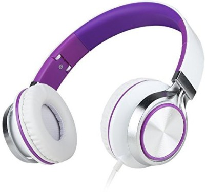 Sound Intone Ms200 Stereo Headsets Strong Low Bass Headphones Earbuds For Smartphones Mp3/4 Laptop Computers Tablet Macbook Folding Gaming Earphones (/Purple) Headphones(Purple)