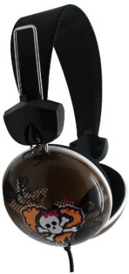 Dgl Pck-825-Lpc Hype Cookie Heart Skull Headphones, Gray Headphones