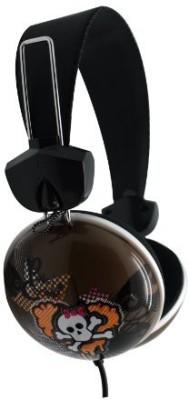 Dgl Pck-825-Lpc Hype Cookie Heart Skull Headphones, Gray Headphones