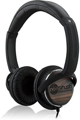 Noisehush 3.5Mm Stereo Headphones With In-Line Mic For Smartphones - Retail Packaging - /Wood Headphones