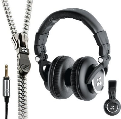 Zipbuds Choice Over-The-Ear Pro Studio Headphones With Tangle Free Zipper Cabling () Wired Headphones