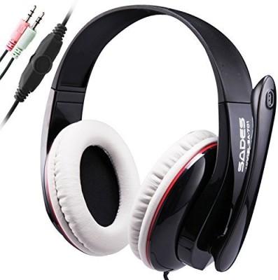 Sades Sa701 3.5Mm Stereo Surround Sound Gaming Headset Headband Over Ear Gaming Headphones With Microphone Deep Bass High Analysis Volume Headphones