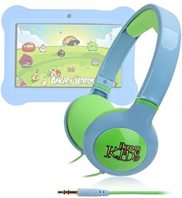 Ikross Blue/ Kid Safe Over The Ear Headphone W/ Padded Design & Volume Limiter For Orbo Jr. 4Gb Android 4.1 Headphones