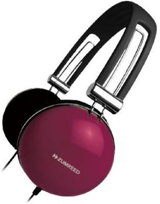 Zumreed Zhp-005 Retro Portable Stereo Headphones, Berry Headphones