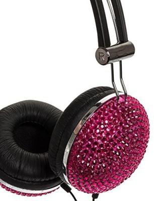 Crystal Case Hot Crystal Rhinestone Bling Dj Over-Ear Headphones Headphones
