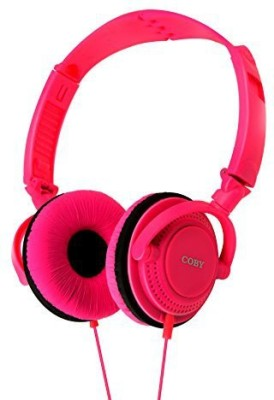Coby Cvh-806-Pnk Twister Stereo Headphones With Built-In Mic Headphones