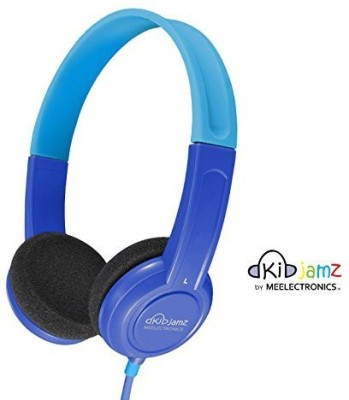 Mee Audio Kidjamz Lightweight And Durable Safe Listening Headphones For Kids With Volume-Limiting Technology (Blue) (Discontinued By Manufacturer) Headphones