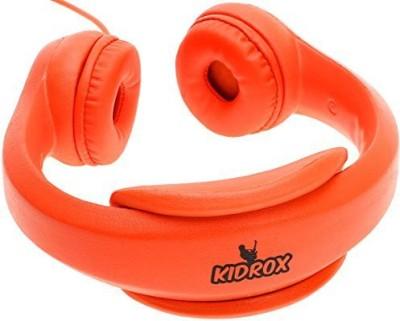 Kidrox Volume Limited Wi Headphones For Kids - Orange Headphones