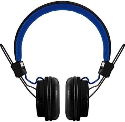 Polaroid Php8330Black/Blue Universal Foldable Hd Headphones With Mic, Black/Blue Headphones