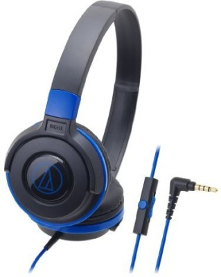 Audio Technica Portable Headphone For Smartphone Ath-S100Is Bbl Black-Blue Headphones