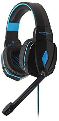 Kotion Each G4000 Stereo Gaming Headphone Headset With Microphone Volume Control For Pc Game Headphones(Black)