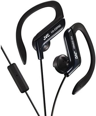 JVC Haebr80B Sport-Clip In-Ear Headphones With Microphone & Remote () Headphones(Black)