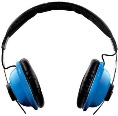 Ihip Ip-Hp88-Bl Leather Headband Great Stereo Headphone, Blue Headphones