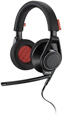 Plantronics 201940-01 Rig Flex Gaming Headset With Two Mic Options Headphones(Black)