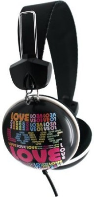 Dgl Pck-825-Lll Hype Cookie Love Headphones, Black Headphones