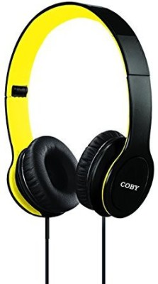 Coby Cvh-801-Ylw Folding Stereo Headphones Headphones(Black)
