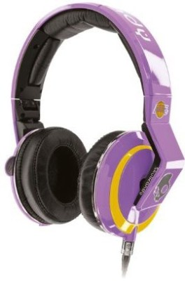 Skullcandy Mix Master Headphones With Dj Capabilities And 3 Button Mic, Nba La Lakers Headphones