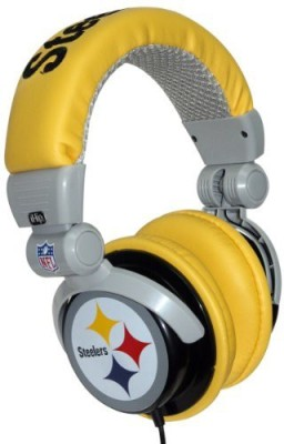 Ihip Nfh22Ps Nfl Pittsburgh Steelers Dj Style Headphones, / (Discontinued By Manufacturer) Headphones