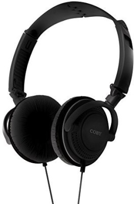 Coby Cvh-806-Blk Twister Stereo Headphones With Built-In Mic Headphones