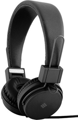 Polaroid Php8500Bk Neon Headphones With Mic, Foldable, Tangle-Proof, Compatible With All Devices Headphones(Black)